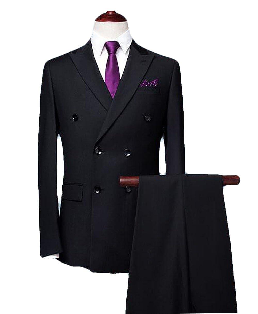 3-Teilig Herren Anzug Jacke Blazer Weste Hose Business Hochzeit Feier Slim Fit
