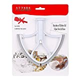 4.5-5 Quart Flex Edge Beater for KitchenAid Tilt-Head Stand Mixer,Upgraded Wing Shape Flat Beater Blade with Flex Edge Bowl Scraper (Flex edge beater grey)