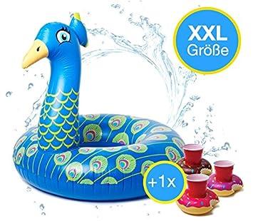 TK Grupo Timo Klingler Peacock XXL 120 cm Anillo de natación ...
