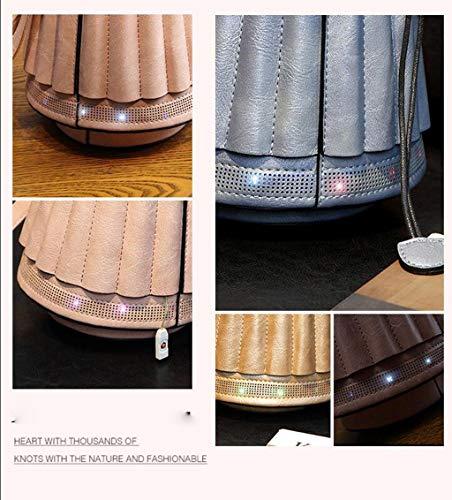 Vintage Borse A Retrò Myydd Forma Donna Personalità Moda pink Di Lanterna Secchiello Gold Tondeggianti qwXdzTHtd