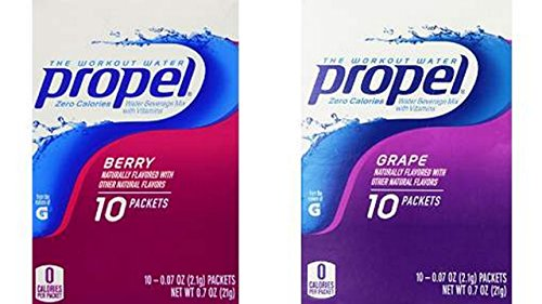 Propel Zero Powder Packets Variety Bundle - 60 Packets - 6 Boxes Total (3 Boxes Each of Grape, and Berry) ()