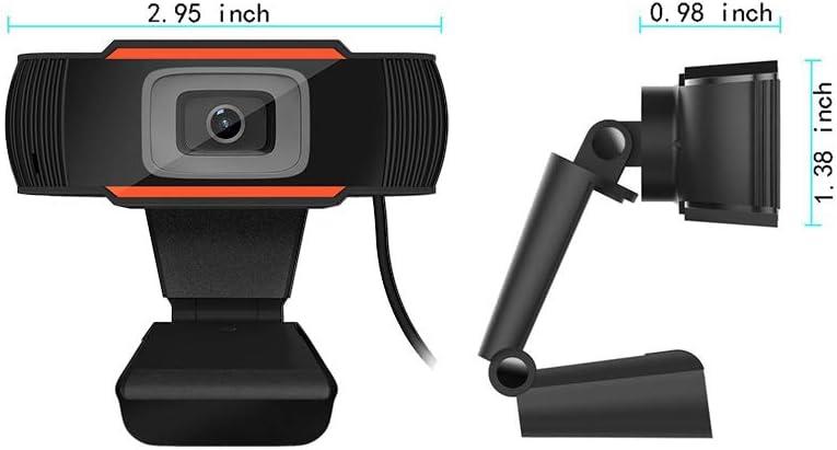 1080P HD Webcam Built-in Dual Microphone USB Computer Camera Digital Video Live Streaming Web Camera Noise Reduction Webcam for Xbox YouTube Skype PC Mac Laptop Desktop Web Cam