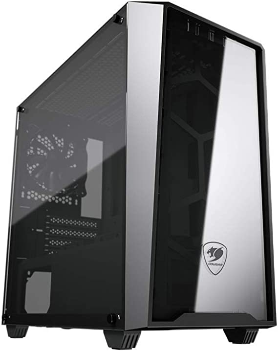 Cougar MG120-G Compact Micro-ATX Gaming Case with Glass Side Window