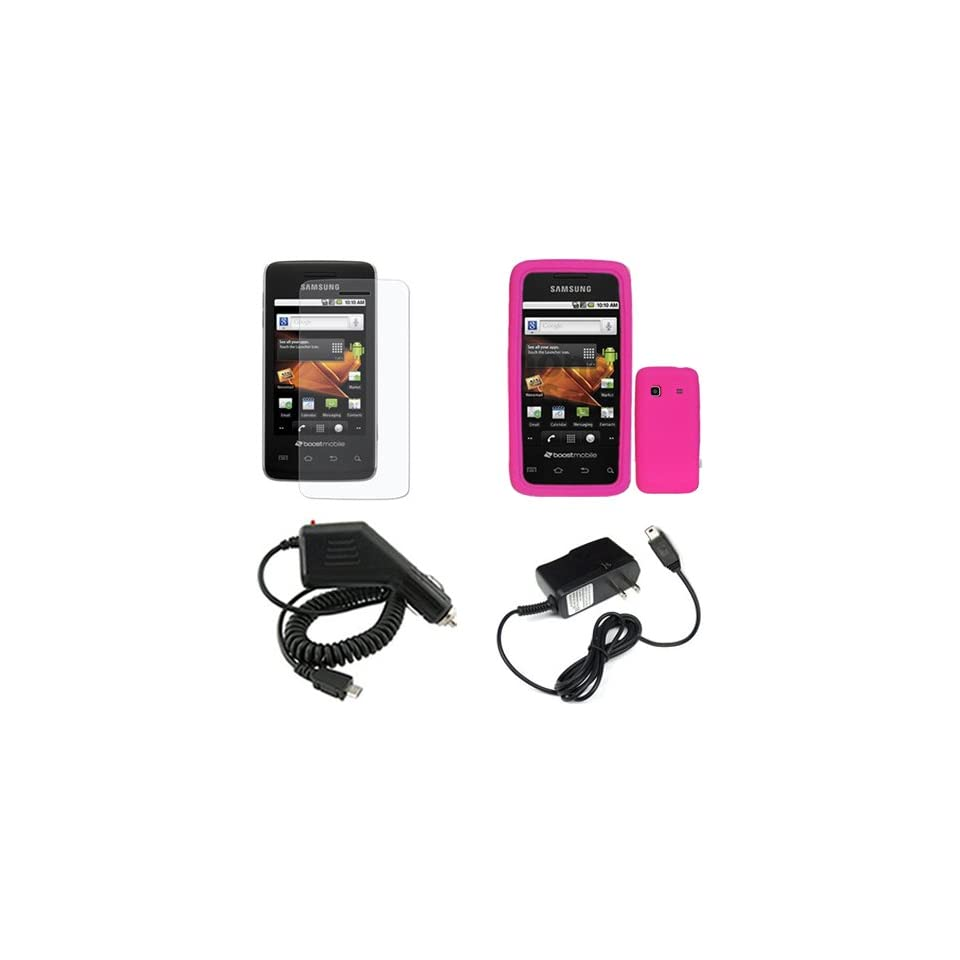 Brand Samsung Prevail M820 Combo Trans. Hot Pink Silicone Skin Case