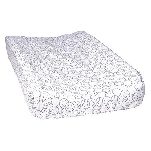 Trend Lab Changing Pad Cover, White and Gray Circles by Trend Lab