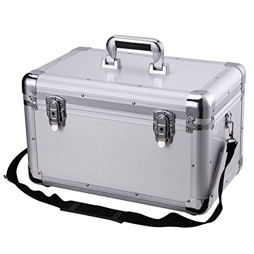 Bory Portable Hard Case toolbox Large Capacity Car Tool box Organizer Storage Box Transport Case Mechanical ToolBox Garage Toys Toolbox Equipment Box Tool Organizers For Car430-AU