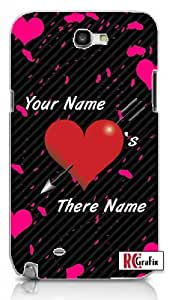 Personalized His Her Name Valentine's Day Custom Samsung Galaxy S5, S 5 Quality PVC Hard Plastic Cell Case for Samsung Galaxy S5, S 5 - AT&T Sprint Verizon - White Case