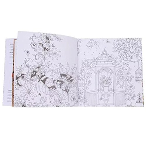 OrliverHL 20 Pages The Secret Garden Coloring Book English Version Fun Drawing Kids Adults