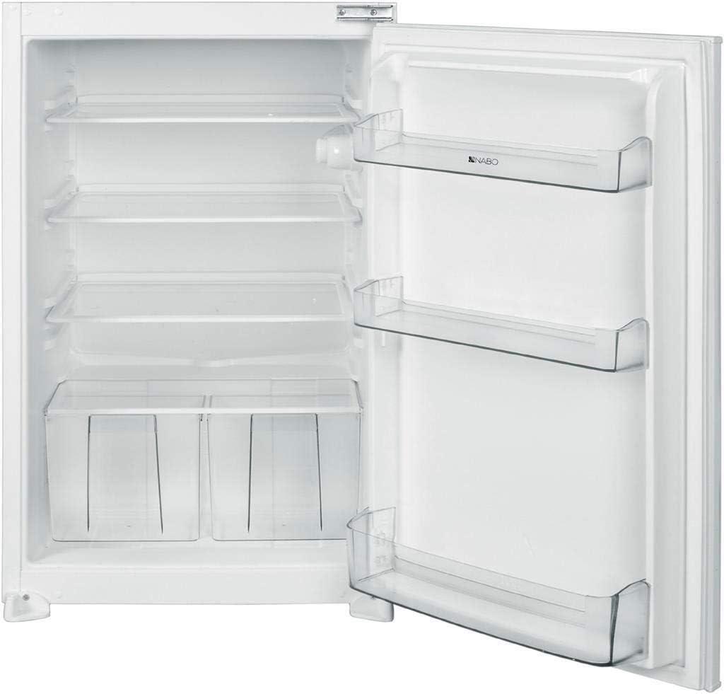Nabo KI 1340 - Refrigerador empotrable (clase de eficiencia energética A++, con puerta corredera integrada e iluminación interior, 3 estantes), color blanco: Amazon.es: Grandes electrodomésticos