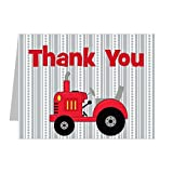 Farm Tractor Thank You Notes for Kids (12 Notes and Envelopes Included) Top-folding, 5.5'' x 4.25''