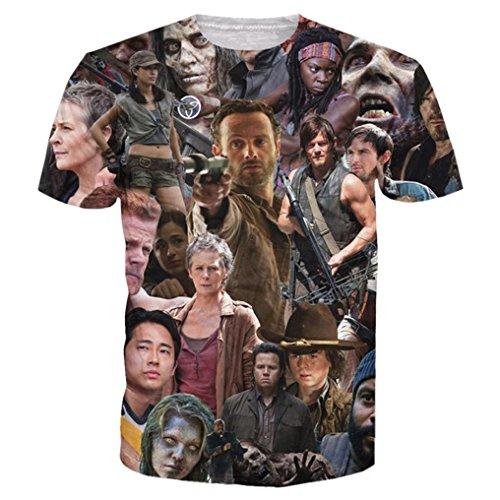 Unisex 3D Printed Shirts Walking Dead Print Harajuku Summer Casual Tops T Shirt