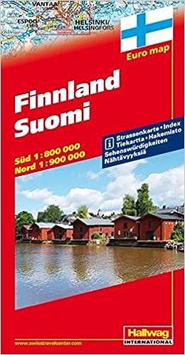 Finland Finland Road Map Hallwag 9783828300194 Amazoncom Books