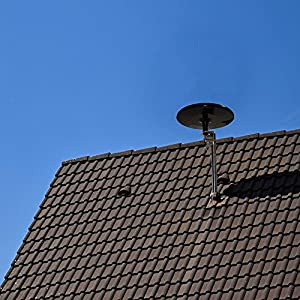 Winegard MS-3005 MetroStar Digital 360 VHF/UHF Amplified Omnidirectional Outdoor HDTV Antenna Black