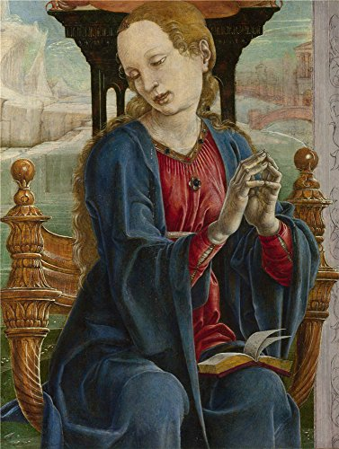 The Perfect Effect Canvas Of Oil Painting 'Cosimo Tura The Virgin Annunciate ' ,size: 10 X 13 Inch / 25 X 34 Cm ,this Replica Art DecorativeCanvas Prints Is Fit For Basement Decor And Home Decoration And Gifts
