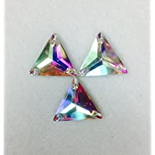 Resin Stone Triangle Crystal Ab Flat Back Sew on or Glue on Selling Per Pack/ 72 Pcs (22mmx22mm)
