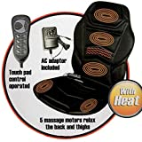 PureMate PM6001 Heated Back Seat Massage Cushion for Office Car Home