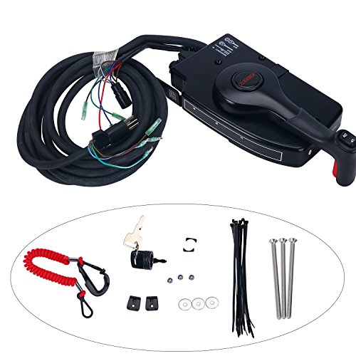 Amarine Made 881170A15 Boat Motor Side Mount Remote Control Box with 8 Pin for Mercury Outboard - Throttle Mercury Control