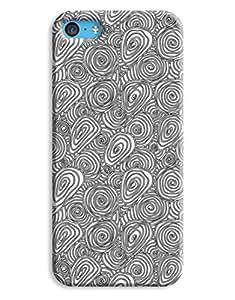 Black and White Swirls Case for your iPhone 5C wangjiang maoyi