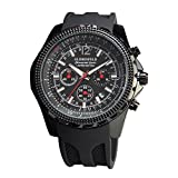 Globenfeld | Mens Chronograph Watch | Sports Watch with Stopwatch & Luminous Hands that Display Minutes & Seconds | Rugged & Scratch Resistant Glass