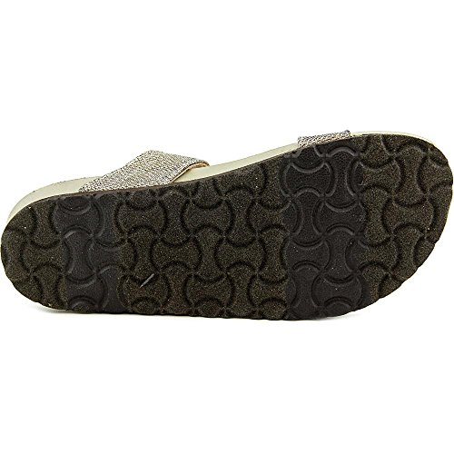 White Mountain 'Henri' sandalias de la mujer Light Gold Glitter