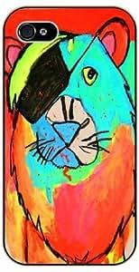 Pirate lion - iPhone 5C black plastic case / Animals and Nature