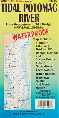 GMCO 15096PS Pro Series Tidal Potomac Waterproof River Map (Tidal Series)