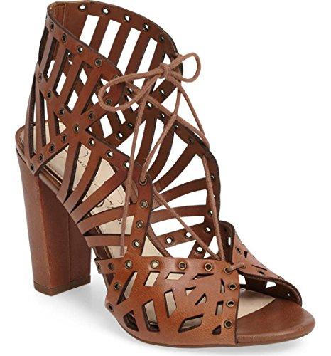 Jessica Simpson Women's Emagine Heeled Sandal, Burnt Umber, 10 Medium US JS-EMAGINE