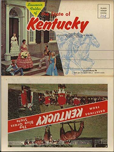 Blue Grass State of Kentucky - 1959 Tichnor Souvenir Postcard Folder