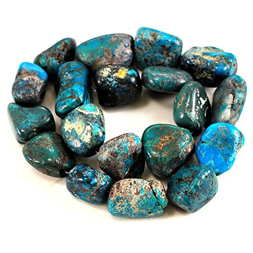 01 Blue Hubei Turquoise Nugget 18-25mm for Necklace Gemstone Loose Beads 15