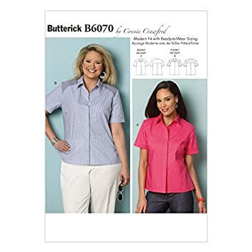 Butterick Damen mit Muster für Nähen, 6070 T-Shirt Bluse Top: Connie ...