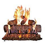 Peterson Real Fyre 24-inch Live-Oak Log Set With Vented Burner, Match Lit (Natural Gas Only)