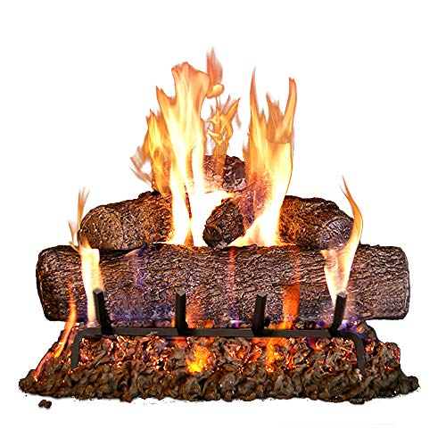 Peterson Real Fyre 18-inch Live Oak Log Set With Vented Burner, Match Light (Natural Gas Only)