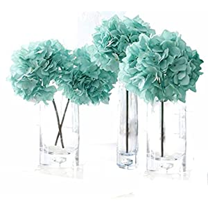 jinma Helen Ou@ 4 Pcs Artificial Hydrangea Flowers Great for Wedding and Home Decoration 10
