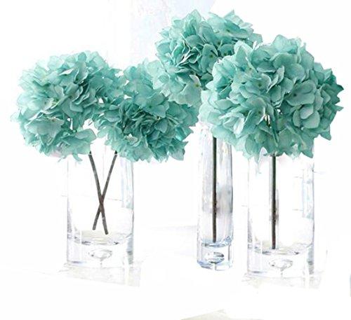 Helen Ou@ 4 Pcs Artificial Hydrangea Flowers Great for Wedding and Home Decoration Blue (Blue Hydrangeas Centerpieces)
