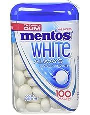 Faites des économies sur MENTOS GUM 10 Boîtes de 100 Chewing-Gum sans Sucres White Always Parfum Menthe 106 g - Pack de et plus encore