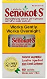 Senokot-S Natural Vegetable Laxative Ingredient Plus Stool Softener, Tablets, 60 tablets Pack of 5