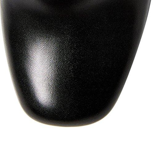 Travail Cortex Hautes Bottes Bottes Chaussures de Black 8028FD de pour L étanche Bottes Banquet Classiques amp;L Dames généreuses Plateforme POcYvwqwaz
