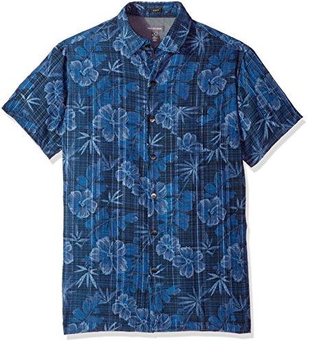 Van Heusen Mens Short-Sleeve Polynesian Printed Shirt