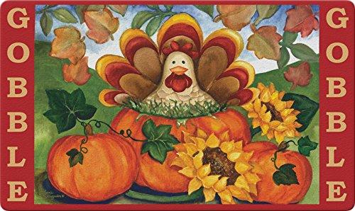 Toland Home Garden Autumn Turkey 18 x 30 Inch Decorative Thanksgiving Floor Mat Fall Gobble Doormat (800279)