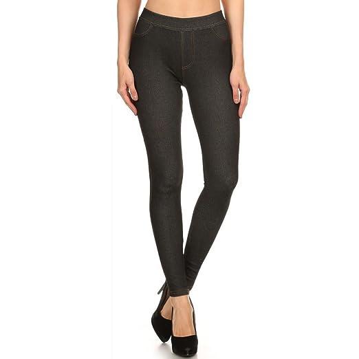 b44e09eb7db3d3 LAVRA Women's Fleece Lined Real Pocked Jegging Jean Legging- XL Black at  Amazon Women's Clothing store: