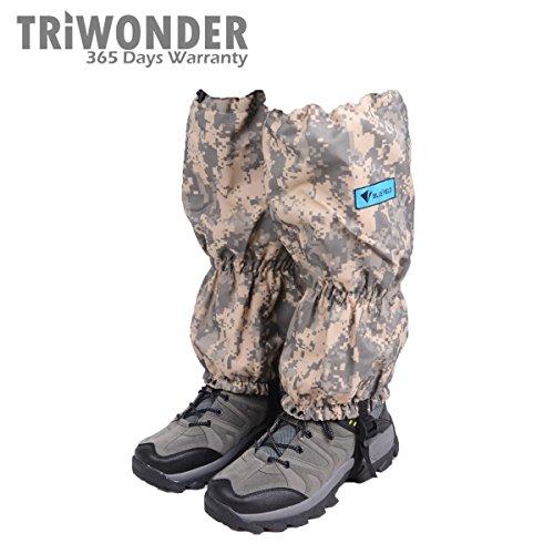 Triwonder 1 Pair Unisex Outdoor Snow Leg Gaiters - Camouflage Leg Gaiters
