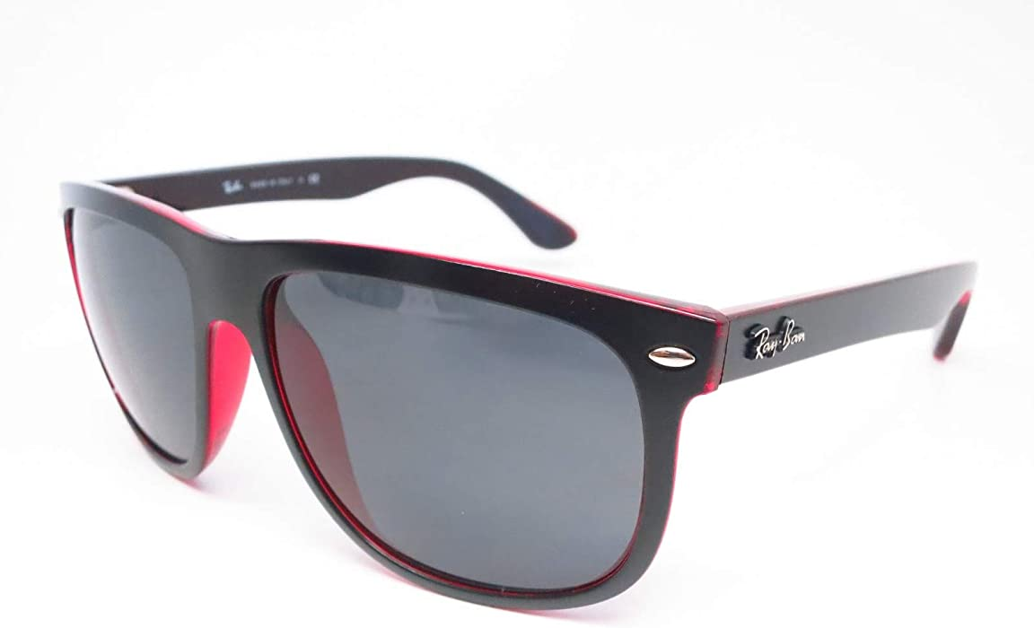 73b819f2f14 Amazon.com  Ray-Ban Highstreet TOP MAT Black on RED Trasparent   Grey RB  4147 6171 87 60mm  Clothing