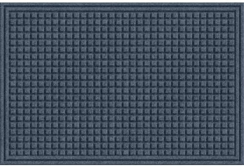Apache Mills EcoMat Squares Entrance Door Mat, 2-Feet by 3-Feet, Slate Gray