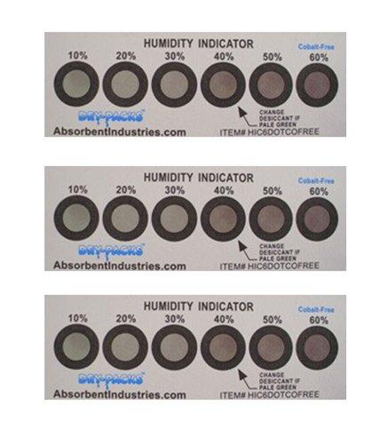 Cobalt Free Humidity Indicator Card, 6