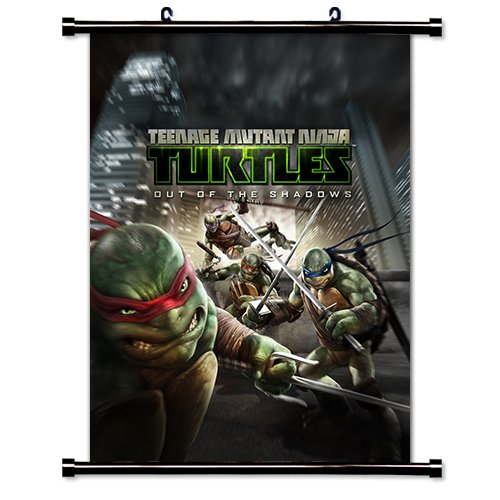 Teenage Mutant Ninja Turtles Movie Poster Fabric Wall Scroll