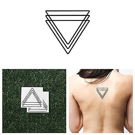 Tatuaje Temporal Tattify - Triángulo Lineal - Santiamén (Juego de ...