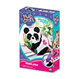 The Orb Factory Panda Pillow Arts & Crafts, White/Black/Pink/Green, 7.5' x 3' x 12'