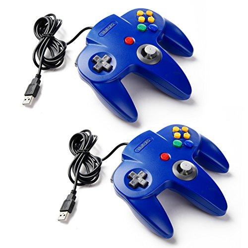 kiwitatá 2 Pack Classic Nintendo 64 USB controller,N64 Bi...