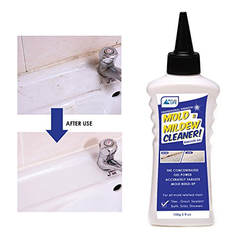 & Mildew Remover Gel Stain Remover Cleaner Wall Mold Cleaner for Tiles Grout Sealant Bath Sinks Showers ()