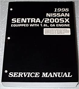 1998 nissan sentra 1 6l factory service manual (b14 series, complete  volume): inc  nissan north america: amazon com: books